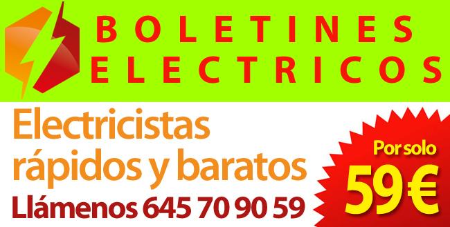 Electricistas baratos para Boletines electricos en Madrid